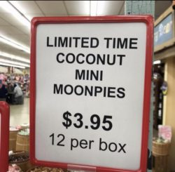 Coconut mini moonpies…are delicious!